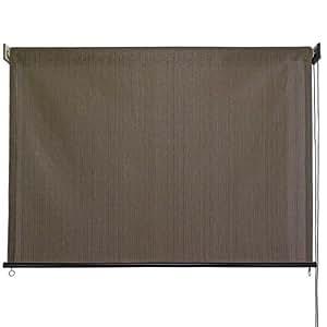 Keystone Fabrics 6120 Baja Exterior Roll Up Solar Shade, 6-Feet by 6-Feet, Cabo Sand