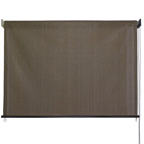Outdoor Roller Sun Shade, 6-Feet by 6-Feet, Cabo Sand (Outdoor Patio Blinds Sun)