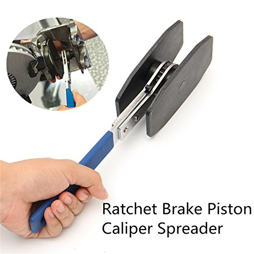 Brake Piston Spreader - NOPTEG Car Ratchet Brake Piston Caliper Spreader Tool Brake Caliper Press Twin Quad Separator Pad Install Tool