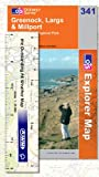 Front cover for the book Explorer Map 341: Greenock, Largs and Millport by Ordnance Survey