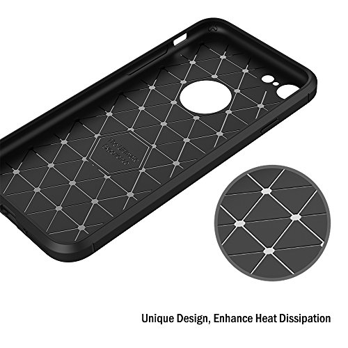 Funda iPhone 7 / iPhone 8, AICEK Negro Silicona Fundas para iPhone 7 Carcasa iPhone 7 / iPhone 8 Funda Case