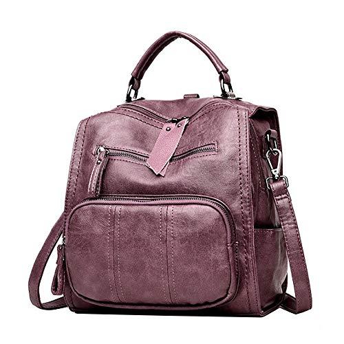 da viaggio da Familizo viola zaino borsa viaggio borse selvatici in donna borse pelle morbida casual R3jLq45A