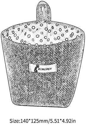 Libertroy Maceta de Lino de algod/ón Saco peque/ño Colgante Yute Dot Cesta de Almacenamiento a Rayas Bolsa de Almacenamiento-Amarillo