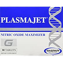 PLASMAJET - Legendary N.O. Nitric Oxide Maximizer, Premium Formula for Huge Gains in Lean Mass & Strength, 80 Tablets
