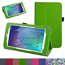 "ALCATEL ONETOUCH POP 7 LTE Case,Mama Mouth PU Leather Folio 2-folding Stand Cover for 7"" Alcatel Onetouch POP 7 LTE 2016 T-Mobile Model 9015W Tablet,Green"
