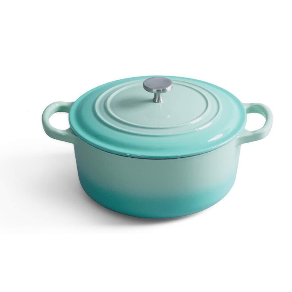 MUTANG Cast Iron Cooker Soup Pot Thickened Cast Iron Pot Casserole Pot Stew Pot Household Kitchen Gift