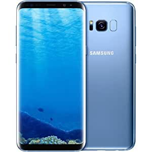 Samsung Galaxy 64GB, - Verizon + GSM Factory Unlocked 4G LTE (Certified Refurbished) (Coral Blue, S8)