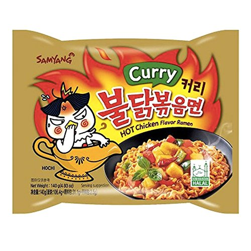 Hot Chicken Curry flavor ramen 4.93 oz 1 serving halah