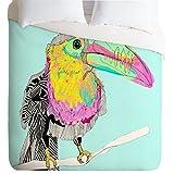 DENY Designs Casey Rogers toucan Lightweight Duvet Cover, Queen