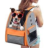Legendog Dog Backpack, Pet Backpack Carrier Portable Travel Bag Breathable Pet Backpack for Dogs& Cats, Waterproof Cat Hiking Backpack with Cushion & Adjustable Strap (Pet Backpack) Review