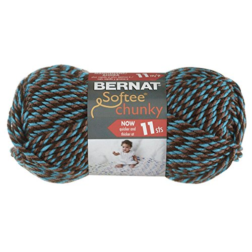 Bernat Softee Chunky Yarn, Teal Twists, Single Ball (Bernat Crochet Patterns)