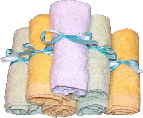 Bamboo Baby Washcloths -Super Soft & Organic, 7 Pack