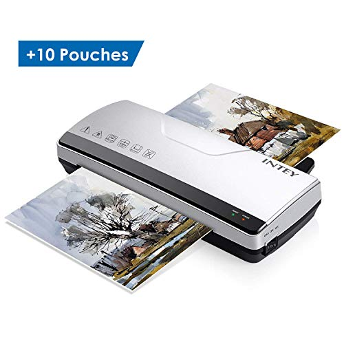 (Update Series: INTEY Thermal Laminator Machine - Two Rollers System Rapid Warm-up & Fast Lamination Speed丨Suitable for Letter-Size/A4 Paper(Gift: 10 Thermal Laminating Sheets))