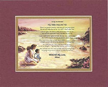 Amazoncom Personalized Touching And Heartfelt Poem For Sons To