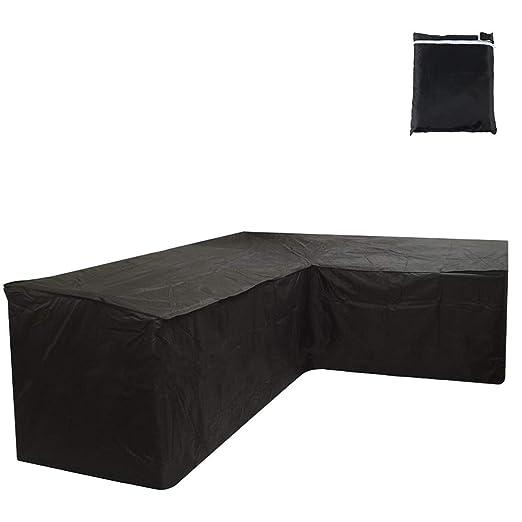 Iraza Funda Esquina Protectora Sofa Muebles, 300 x 300 x 90CM,para Sofás,Mesas y Sillas de Patio, Cubierta Protectora Exterior, Impermeable, L ...
