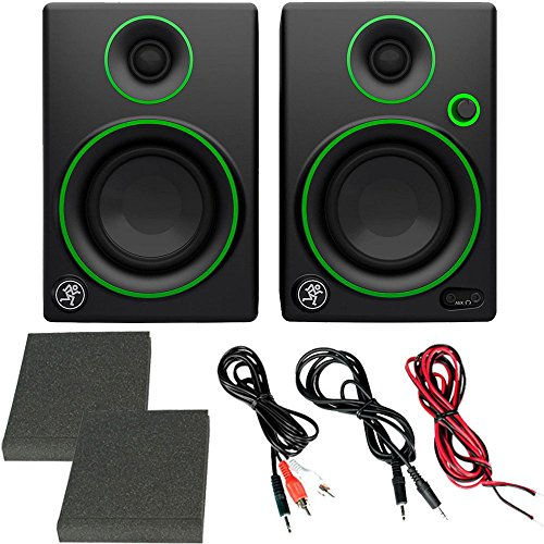 """Mackie Cr Series Cr3 - 3"""" Creative Reference Multimedia Monitors (pair) + Bluetooth 2-in-1 Wireless"""