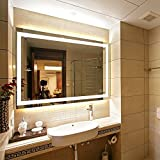 LED Lighted Rectangular Wall Mounted Mirror (36''x28'', Front Lighted)