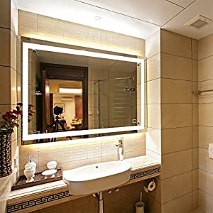 """LED Lighted Rectangular Wall Mounted Mirror (36""""x28"""", Front Lighted)"""