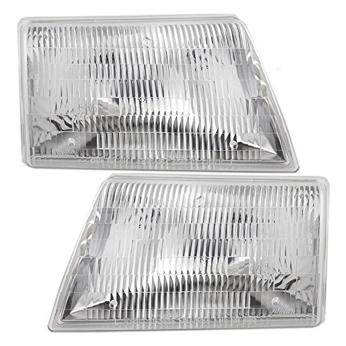 2009 Mazda B2500 Replacement - Headlights Headlamps Driver and Passenger Replacements for 98-00 Mazda Pickup Truck ZZP051040B ZZP051030B