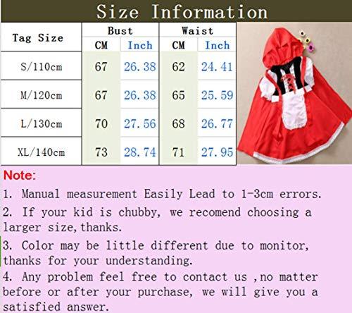 Zhxinashu Enfants Mignons Halloween Costumes Filles Rôle Costumée Partie De Jeu (s-xl)