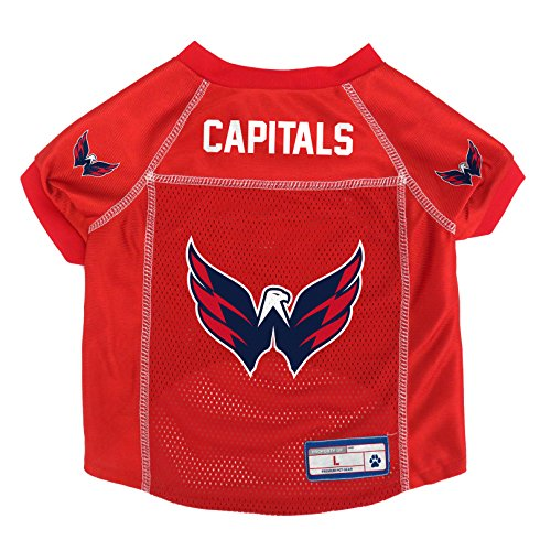 NHL Washington Capitals Pet Jersey, Large Athletic Jersey Mesh Cap