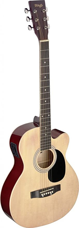 Brand New Stagg SA20ACE Full Size Cutaway Auditorium Acoustic Electric Guitar