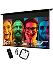 Elite Screens Spectrum, 84-inch 16:9, 4K Home Theater Electric Motorized Drop Down Projection Projector Screen, ELECTRIC84H