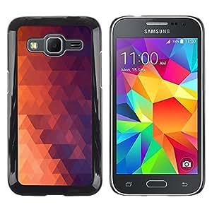 LECELL--Funda protectora / Cubierta / Piel For Samsung Galaxy Core Prime -- Geometría Red Triangle --
