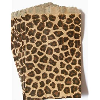 Amazon Com 100 Of 4 Quot X 6 Quot Small Paper Bags 50 Cheetah