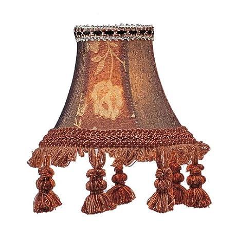 Livex lighting s124 bell clip chandelier shade with tassels livex lighting s124 bell clip chandelier shade with tassels burgundy floral aloadofball Images