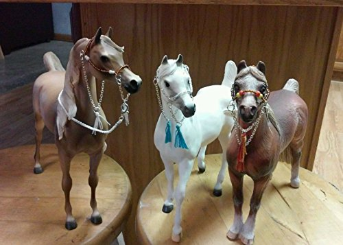 (Breyer Peter Stone marx Johnny West horse custom three arabian halters and one lead)