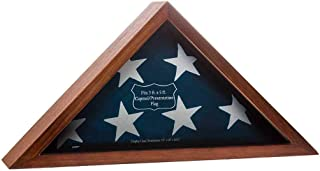 product image for Capitol Flag Case for 3' by 5' Burial/Presentation Flag, Dark Walnut