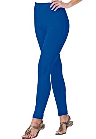 Women's Plus Size Petite Leggings In Stretch Cotton Knit at Amazon ...