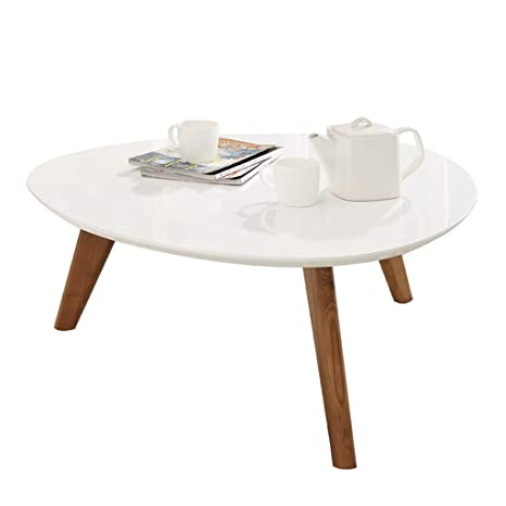 Meng Wei Shop White Minimalist Mini Coffee Table Living Room Paint