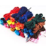 Tinksky 12 Pairs of Replacement Flat Shoelaces Strings for Sports Shoes Boots Sneakers Skates (Assorted Colors)