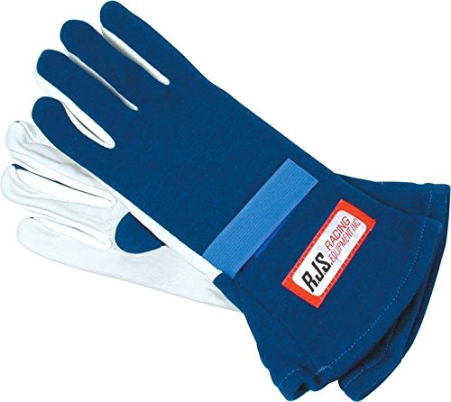 NEW PAIR OF RJS X-LARGE BLUE SINGLE LAYER NOMEX DRIVING GLOVES, RACING GLOVES HAVE SFI SPEC OF 3.3/1, COMFORTABLE, DURABLE, AND SAFE FOR THE RACER, GREAT FOR NUMEROUS TYPES OF RACING AND OFF-ROAD APPLICATIONS