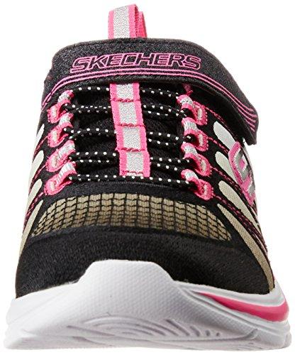 Skechers Kids Swift Kick Scarpa Da Allenamento (bimbo / Bimbo Grande) Nero / Argento Rosa