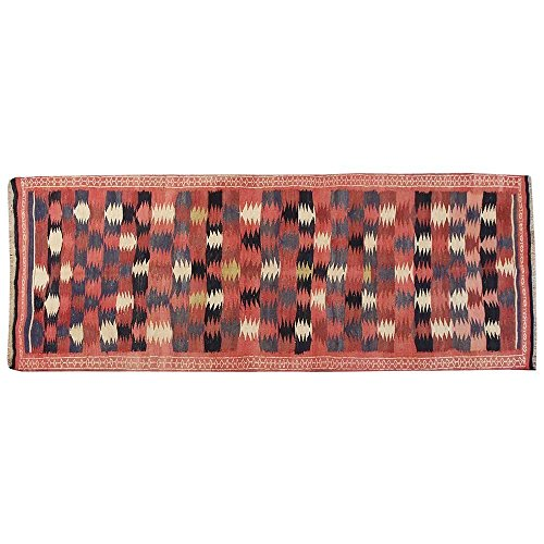 10.8' x 3.9' Antique floral design rug, Vintage traditional carpet, Floor Classy Carpet, Classical Fancy Hand knotted Rug, Red Turkish Rug.Code S0101519 (Aubusson Rooster)