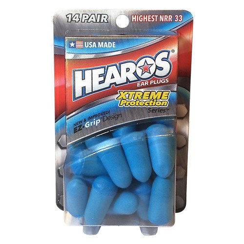 Hearos Ear Plugs - Xtreme Protection Series, 14 Pairs each (Value Pack of 4)