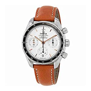 Omega Speedmaster Silver Opaline Dial Automatic Mens Watch 324.32.38.50.02.001