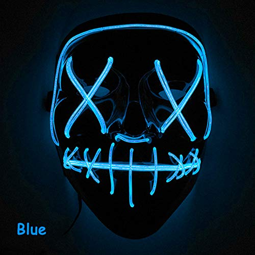 RONSHIN Fashionable Creative Scary Halloween Mask LED Light Up Mask for Festival Cosplay Halloween -