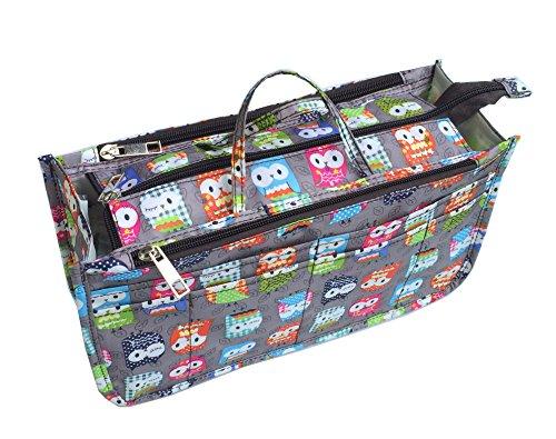4ce126595fd7 Micom Cute Printing Expandable 13 Pocket Handbag Insert Purse ...
