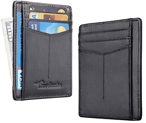Travelambo RFID Front Pocket Minimalist Slim Wallet