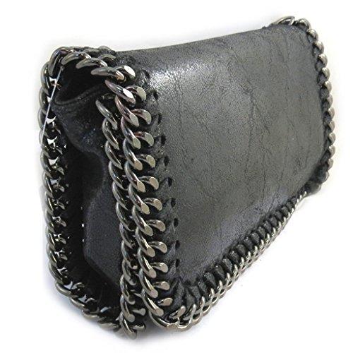 Bolso de cuero 'Scarlett'negro brillante (21x11x5 cm).