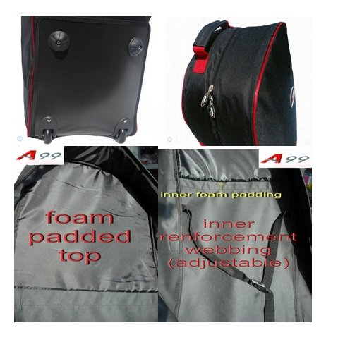 2pcs A99 Golf T07 Travel Bags Cover Tour Luggage Wheeled Carry Black by A99 Golf (Image #2)
