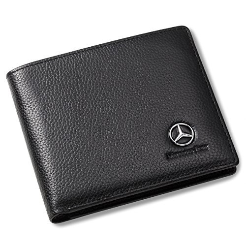 mercedes benz bifold wallet with 3 card slots and id
