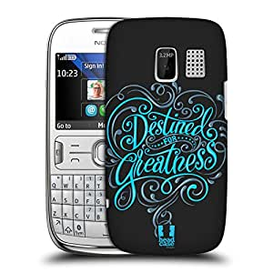 Head Case Designs Destined For Greatness Inspirational Typography Hard Back Case Cover For Nokia Asha 302