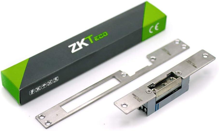 Sistema para puertas con corriente continua. Cerradura el/éctrica Reversible Sim/étrica Abrepuertas el/éctrico ajustable ZKTeco 4507 12V DC