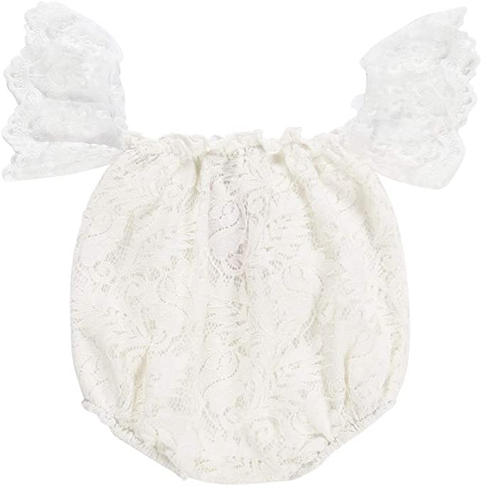 color blanco Moneycom❤ Vestido de manga larga para beb/é con volantes rosa y verde
