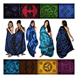 Sarongs, Assorted. Celtic/Tribal, Blue Shades. Free gift!